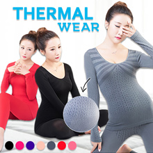 Winter Modal Seamless thermal Wear Top+Bottom Slimming Underwear Suit Keep Warm Plus Size elastic