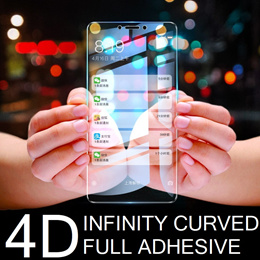 Samsung Note 9/S9/S9 Plus/S8/ iPhone X Fully Adhesive Infinity Tempered Glass Screen Protector