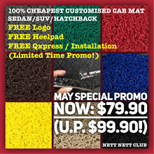 Only $69.90! - 100% CHEAPEST  #1 Customised CarMat - Sedan Hatchback SUV - FREE Qxpress/Installation