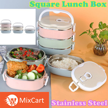 ★3 Layer Lunch Box★【TIME SALE】★Lowest Price★Food Box Stainless Steel Lunchbox(✿◕‿◕✿)(●ˇ∀ˇ●)