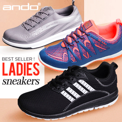 Premium ANDO LADIES SNEAKERS   SEPATU ANDO   WOMEN RUNNING SHOES   KETS  SHOES 8e48708f4
