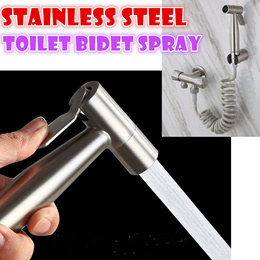 Stainless steel Toilet bidet Spray bathroom cleaner car wash flusher Stretch hose pipe 304 no rust