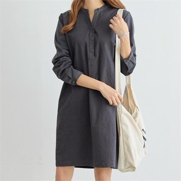 ピピンキャトルバンオプンシンプルワンピース34862 無地ワンピース/ワンピース/韓国ファッション