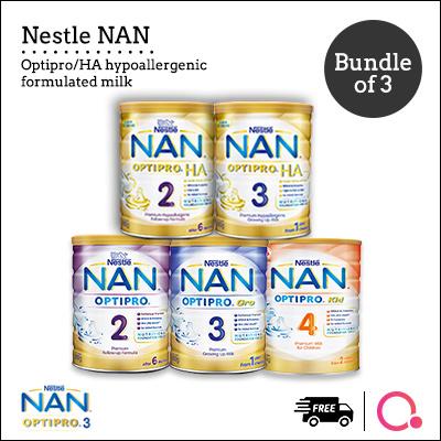[NESTLÉ NAN] Optipro/HA/Kid hypoallergenic formulated milk?BUNDLE OF 3 TINS!? Deals for only S$129 instead of S$0