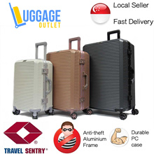 ★Unique TSA Lock★Hard Case 8 Wheel Spinner Polycarbonate Aluminium Frame Luggage Travel Bag