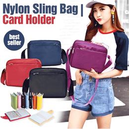 PROMO BUNDLING - Nylon Sling Bag and Card Holder - Best Seller