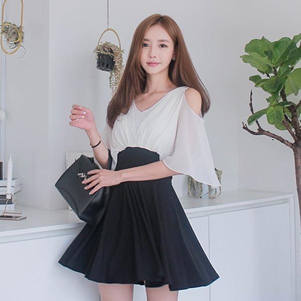 エンジェルハートワンピースnew フレアワンピース/ワンピース/韓国ファッション