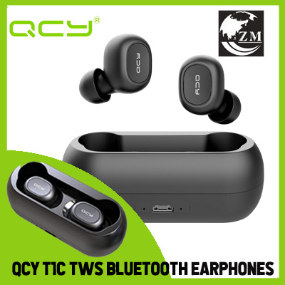 aa6358380cc QCY T1C/T2C Wireless Bluetooth Earphones With Mic Sports Noise Canceling  Headset With Charging Box
