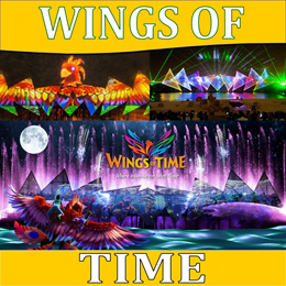WINGS OF TIME ETICKET AVAILABLE HASSLE FREE (MUST BOOK IN ADVANCE)