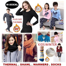 [ORTE] Sale★ Wool Winter Shawl★Kids Thermal Wear Gloves Beanie★Winter Socks★Gloves★Neck Warmers★