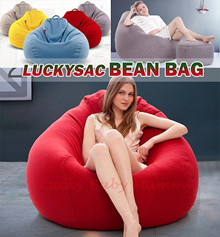 【LUCKYSAC】BEANBAGS! Lazy Sofa Bean Bag Chair Soft Cushioning Bedding / Floor Chairs/ Cushions