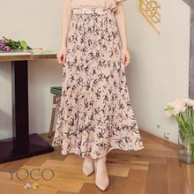 YOCO - Floral Print Pleated Skirt-180660