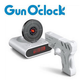 Laser Target Desk Shooting LCD Screen Gun Digital Alarm Clock Cool Gadget Toy Novelty With Red LED b