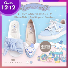 ELISA LITZ ♥ CINNAMOROLL 15TH ANNIVERSARY ♥ RIBBON FLATS | BOW SLIPPERS | SNEAKERS | Genuine Leather