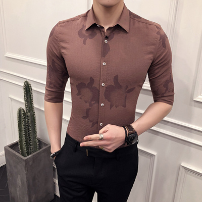 eb77a709e4 18 Spring Fashion Boutique men s printed in shirt-sleeve flower shirts  Youth Shirt 223