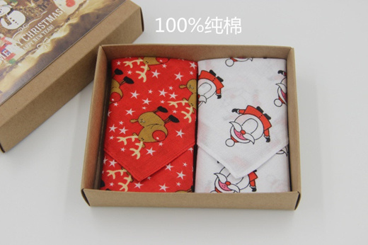 Elk cotton handkerchief gift box