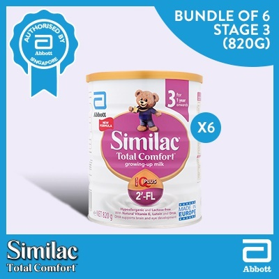 Similac[Bundle of 6] Similac Total Comfort Growing-up Stage 3 (820g)
