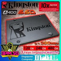 Kingston A400 SSD 120GB/240GB (3Ys Wty)
