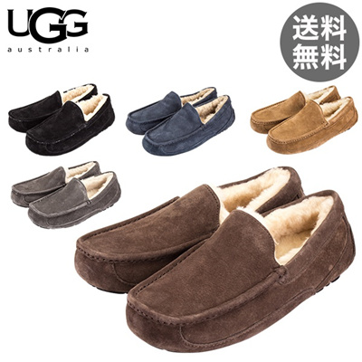 Ag UGG Ascot Slip Mouton Men s 5775 MEN S ASCOT Flat shoes Suede Sheepskin  real leather 5cbaede71