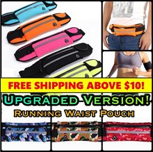 Running Waist Pouch - Jogging / Bicycle / Sports / Training / Band / Belt / Gym