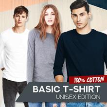 Basic Tshirt Unisex-Kaos Polos O Neck Lengan Panjang-100% Cotton-Size MLXL