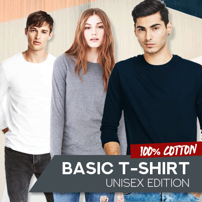 Basic Tshirt Unisex-Kaos Polos O Neck Lengan Panjang-100% Cotton-Size MLXL Deals for only Rp59.000 instead of Rp59.000
