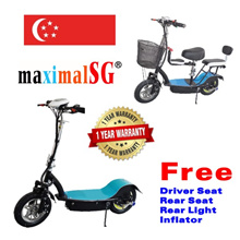 Lithium Electric Scooter E-scooter mobility scooter LTA compliant upgradable 3 seats escooter