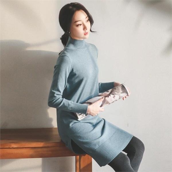 バンハイネクスリットニット・ワンピースTPH215 ニットワンピース/ワンピース/韓国ファッション