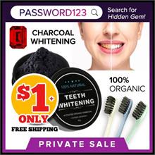 Teeth whitening Charcoal Powder/ Organic/ Toothbrush/ HSA notified/ FDA Approved/ Whitening/ SALES