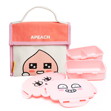 ★[Kakao Friends] Apeach Natural Bag Lunch Box★ Picnic Box / Kids lunchbox / Lunch Bag / 2 Stage