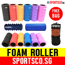 ⏰⚡Premium Quality Foam Roller ☘ Black PVC Core - Stronger! ☘ Not Cardboard Core ☘ Many Models ☘ SG ☘