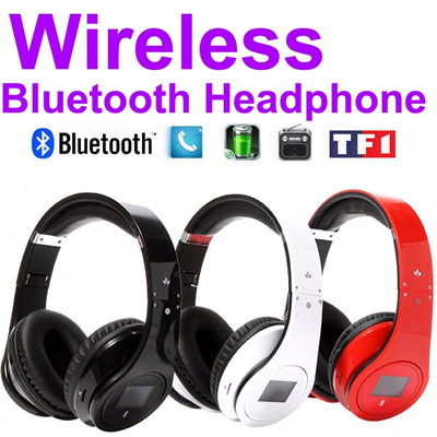 Wireless Bluetooth Headphone For mobile Phone Tablet PC MP3 TF SD Bluetooth  headset LCD Display Fidelity 308d8e163a