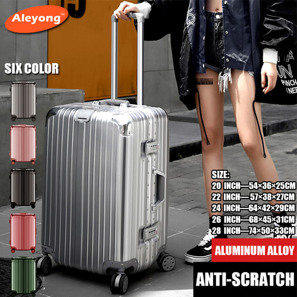 Luggage Aluminum Box Trolley Universal Wheel Travel Box Top Quality Luggage Deals for only RM1.21 instead of RM2