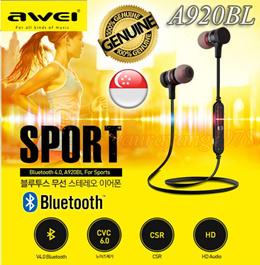 Awei A920BL Magnet Wireless Bluetooth Headset Earphone Sports V4.0 Headphones Jogging