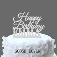 Custom Name Happy Birthday Cake Topper Personalized Birthday Cake Topper Birthday Gift  Birthday Cak