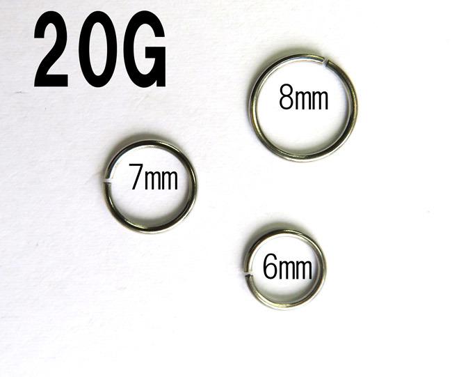 Qoo10 Seamless Ring 20g 0 8mm Inner Diameter 6mm 7mm 8mm