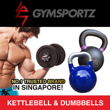 ★★ GYMSPORTZ ★★ PREMIUM RUBBER DUMBBELL ★ WEIGHT PLATES ★ ADJUSTABLE ★ KETTLEBELL ★ 4KG - 28KG  40KG