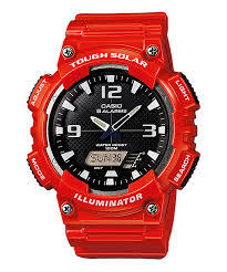 Casio Mens AQ-S810WC-4AVCF Analog-Digital Display Quartz Red Watch