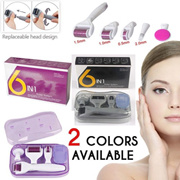 DRS Derma Roller 6-in-1 Derma Roller Kit for Skin Care Face Tools Microneedle Set