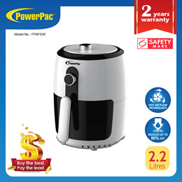 PowerPac 2.2L Air Fryer with hot air flow system (PPAF636)