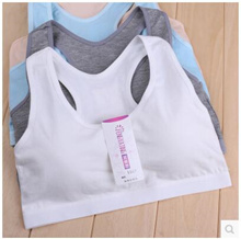 Girls bra underwear small vest daughter of middle school physical Tongfa Yu word cotton vest summer thin section