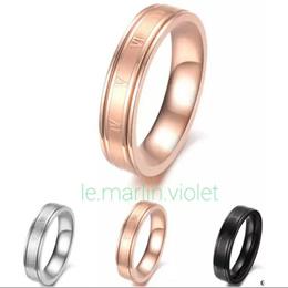 [SG SELLER] ★Roman Numerals Silver / Black / Rose Gold Colour Single Ring Couple Ring Set★
