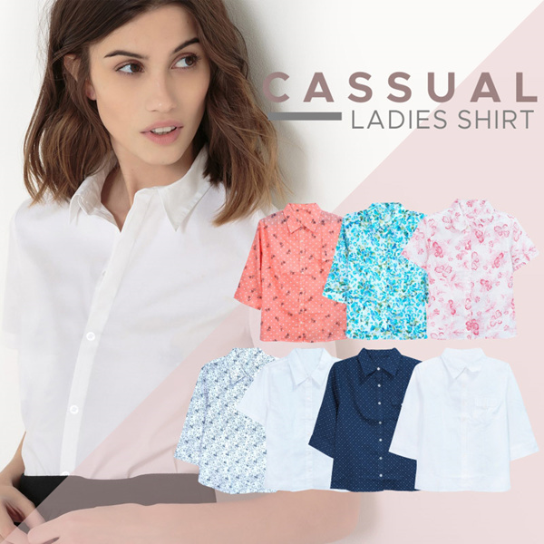 New Collection Joe fresh Ladies Office Shirts/7 Motif/Kemeja Wanita /Kemeja Kasual Deals for only Rp50.000 instead of Rp50.000