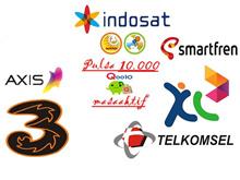 Pulsa Telkomsel / XL / TRI / AXIS/ INDOSAT / SMARTFREN 10.000 + MASA AKTIF