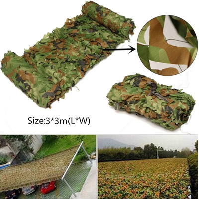 3mx3m Hunting Camping Jungle Camo Net Camouflage Netting Mesh Woodlands  Hide Army