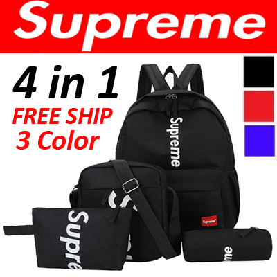 58eac267963  Supreme  Special Promotion item 4 in 1 set   Backpack   cross bag