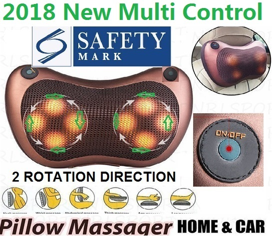 2018 Shoulder neck Infrared Heating Massage Pillow Home Car Shiatsu Massager Deals for only S$29.9 instead of S$0