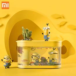 小米 画法几何两栖生态懒人鱼缸限量版 赠送正版小黄人手办