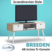 【BREEDEN】Scandinavian 48 inches TV Console/TV Cabinet/TV Stand/TV Furniture/Television Cabinets