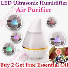 Ultrasonic Humidifier Mini Essential Oil Aroma USB LED Diffuser Office SPA Mist Maker Air Purifier